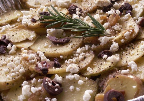 Non- Creamy Potato Bake With Feta and Olives. Photo by JanuaryBride