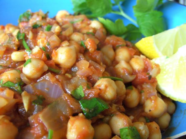 Warm Chickpea Salad. Photo by JustJanS