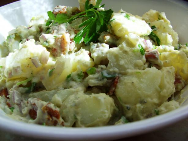 Bacon Blue Cheese Potato Salad. Photo by JustJanS