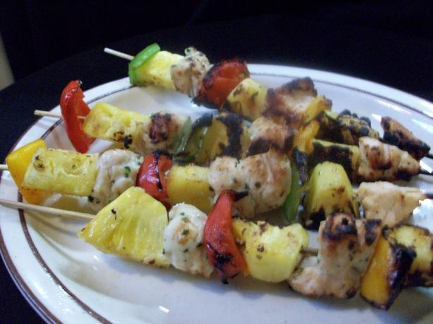 Coconut Chicken and Pineapple Skewers. Photo by 2Bleu