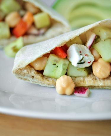 Chickpea Salad Pitas. Photo by Aaliyah's&Aaron'sMum