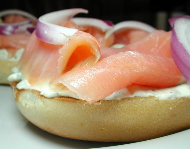 Smoked Salmon and Cream Cheese Open Sandwich for One. Photo by Chef floWer
