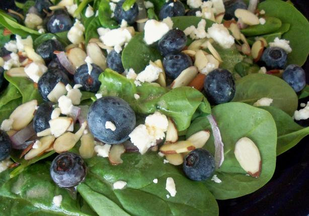 Greens With Blueberries, Feta and Almonds. Photo by *Parsley*