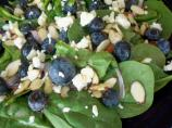 Greens With Blueberries, Feta and Almonds
