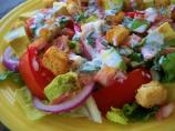 BLT Salad With Creamy Basil Dressing