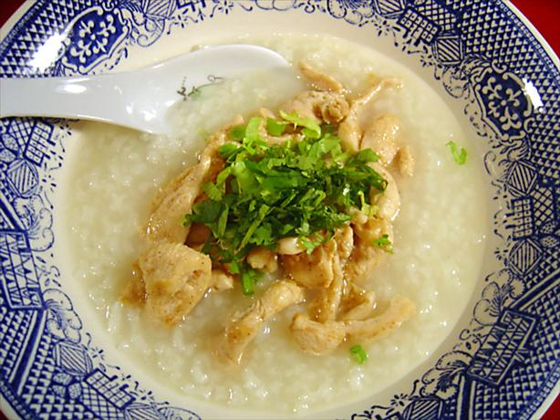 Thai Chicken and Rice Soup - Kao Tom Gai. Photo by :(