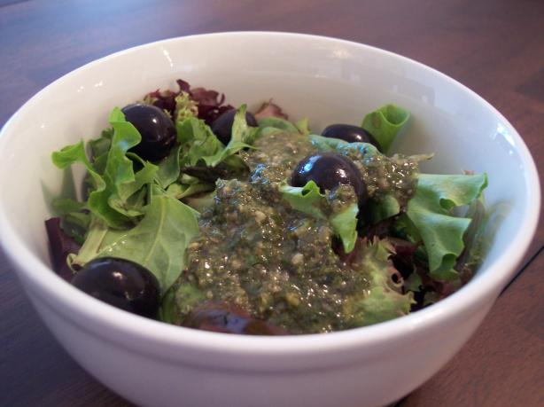 Basil Vinaigrette Dressing. Photo by jrusk