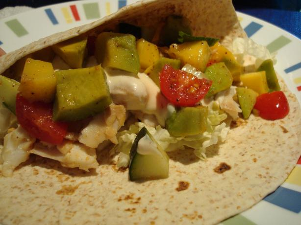 Fish Tacos With Mango Salsa. Photo by Starrynews