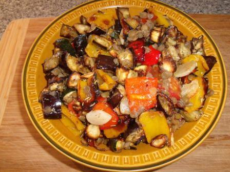 Roasted Ratatouille With Lentils. Photo by Kiwi Kathy