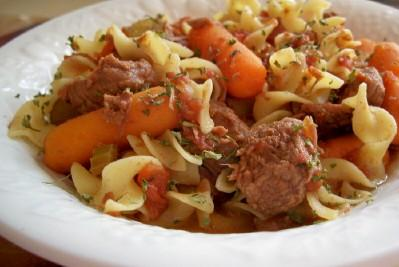 Slow Cooker Beef Noodle Stew. Photo by lauralie41