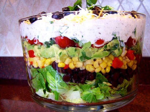 Tex Mex  7  Layer Salad. Photo by Rita~
