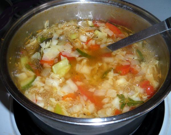 Easy Low Fat, Low Carb Low Cal Diet Soup. Photo by Bergy