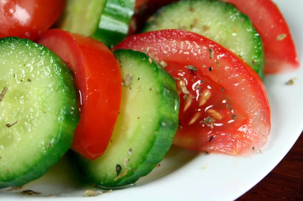 Tomato and Cucumber Salad. Photo by Chef floWer