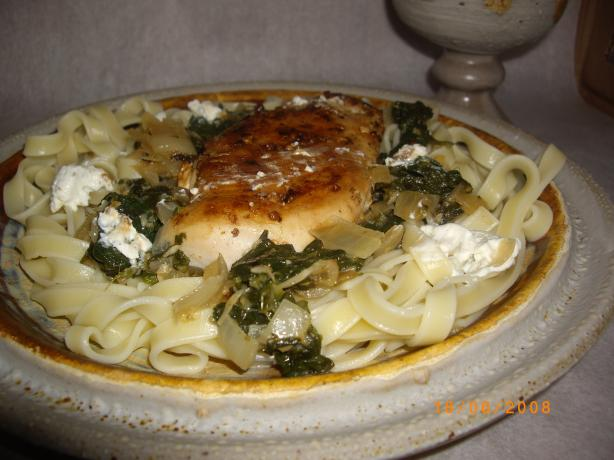 Spinach, Chicken and Feta Noodles. Photo by Sage