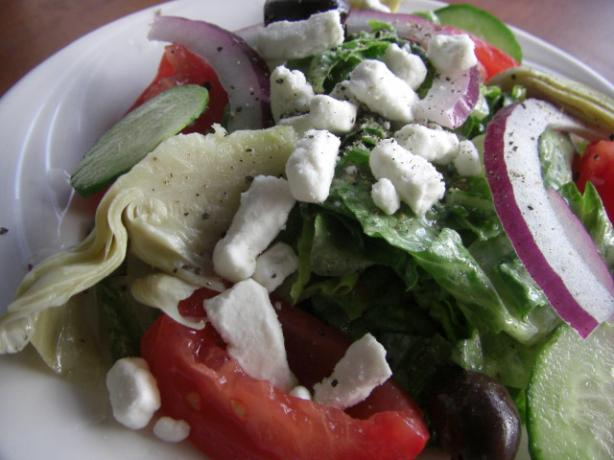 Feta Greek Salad. Photo by puppitypup