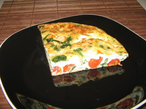 Blue Cheese Spinach Frittata. Photo by catalinacrawler