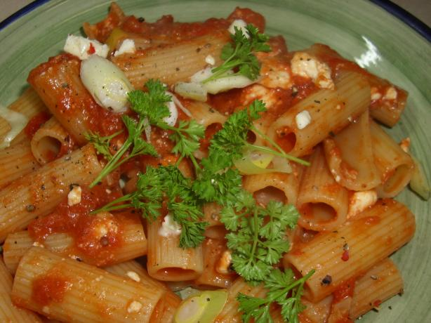 Greek Tomato Penne Pasta. Photo by Karen Elizabeth