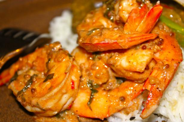 Stir-Fried Shrimp in Aromatic Tomato Cream Sauce. Photo by Leggy Peggy