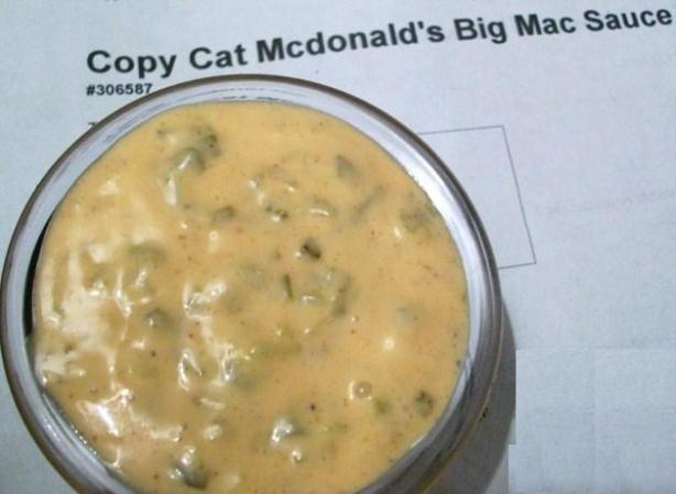 Copycat Mc Donald's Big Mac Sauce. Photo by 2Bleu