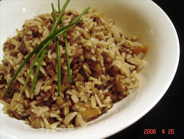 Onion Lentils and Rice. Photo by Ninna