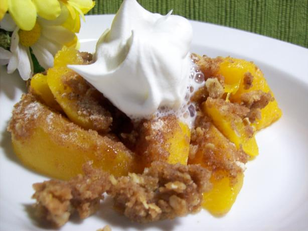 Peach Crumble. Photo by Chef shapeweaver ©