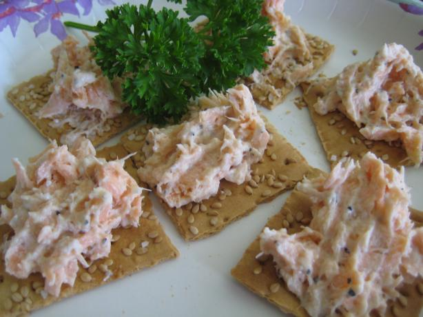 Salmon Spread With Two Ingredients. Photo by Cookin'Diva
