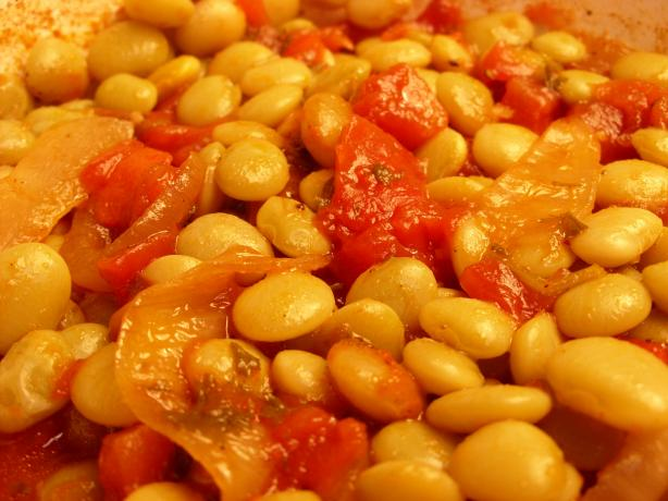 Yigandes Plaki - Greek Baked Beans &amp; Tomato Casserole. Photo by Mulligan