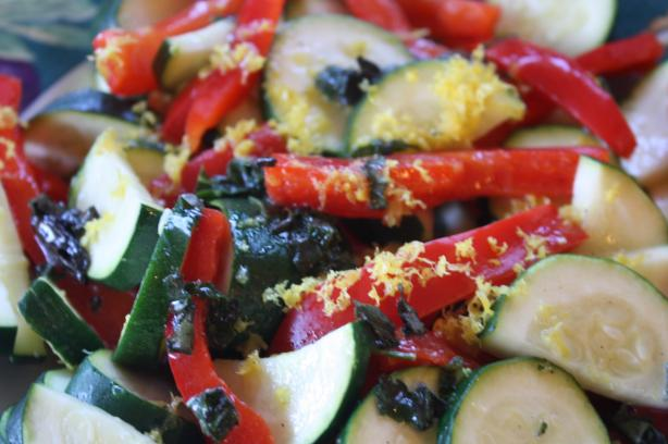 Zucchini and Red Pepper Salad (Greece). Photo by Leggy Peggy