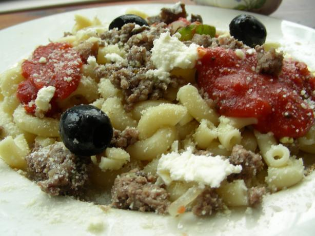Greek Macaroni With Meat Sauce. Photo by Andi of Longmeadow Farm