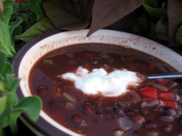 Costa Rican Black Bean Soup. Photo by Dreamer in Ontario