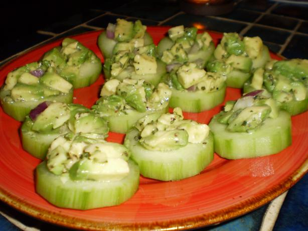 Cucumber Bruschetta (No Bread). Photo by breezermom