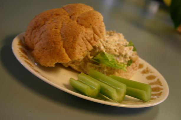 Easy Quick Delicious No-Mayonnaise Chicken Salad. Photo by kelly jean