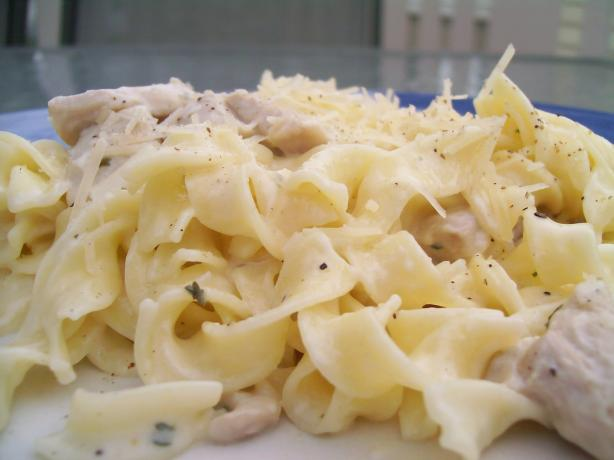Quick and Easy Chicken in a Parmesan White Sauce. Photo by AZPARZYCH