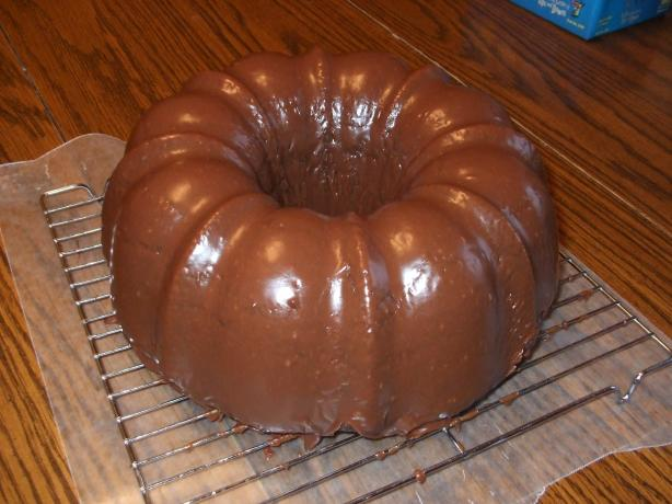 Chocolate Bundt Cake Glaze. Photo by ktenille