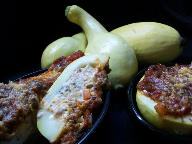 Stuffed Yellow Squash. Photo by 2Bleu