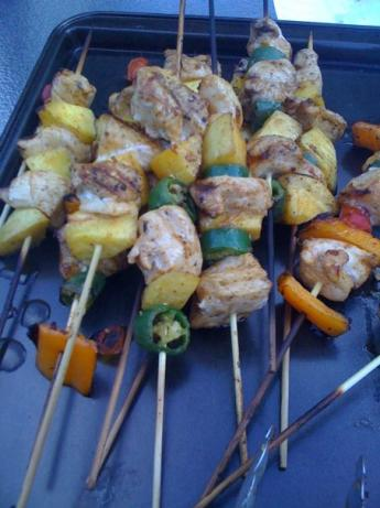 Chicken Mango Kabobs. Photo by bettysue82