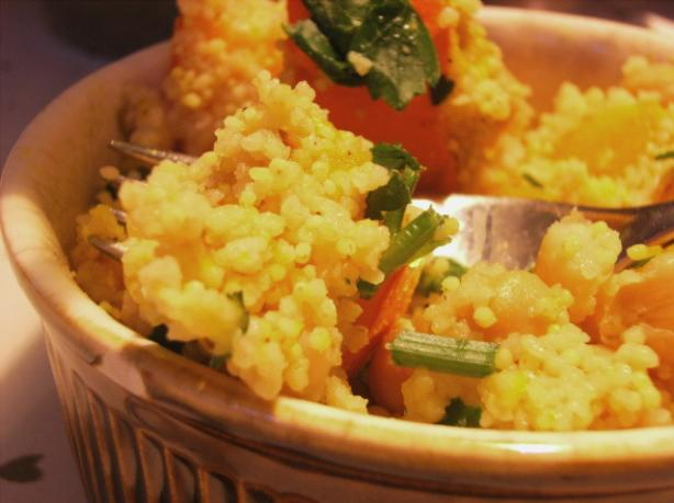 Moroccan Style Pumpkin and Couscous Salad. Photo by Lalaloula