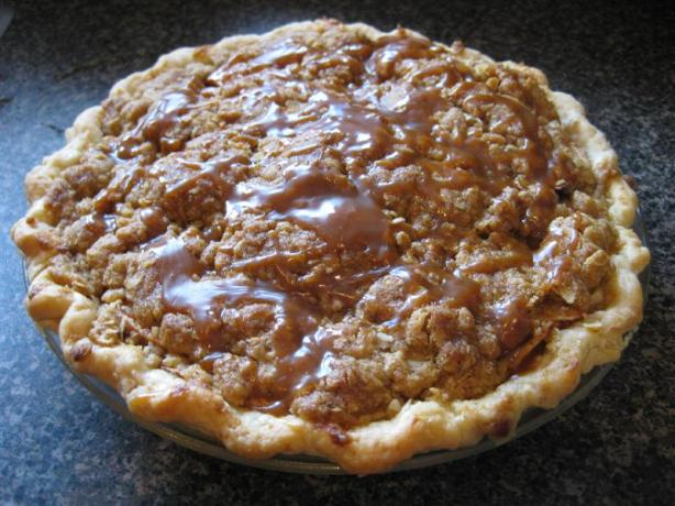 Yummy Crunchy Caramel Apple Pie. Photo by Just Call Me Martha