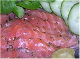 Gravlax (marinated salmon)