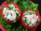"Four ""s"" Tomatoes!  (Simple Shrimp Stuffed Salad)"