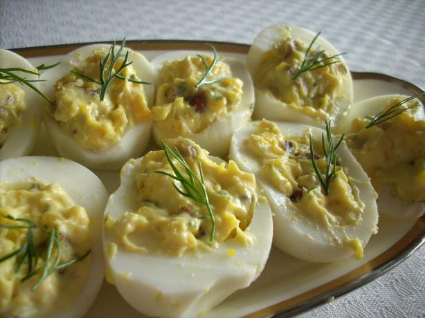 Pecan Stuffed Deviled Eggs. Photo by Buckwheatjr.