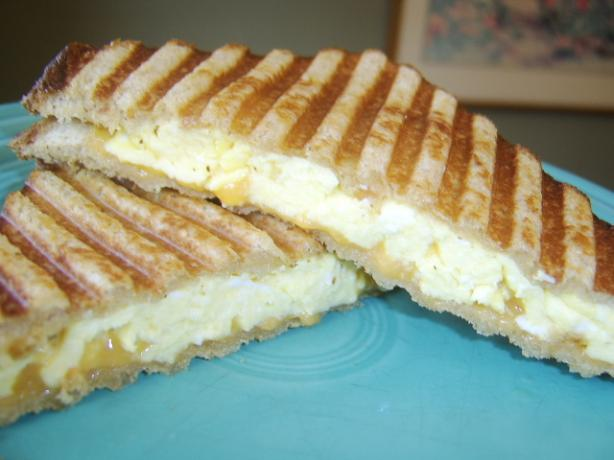 Scrambled Egg Breakfast Panini. Photo by LifeIsGood