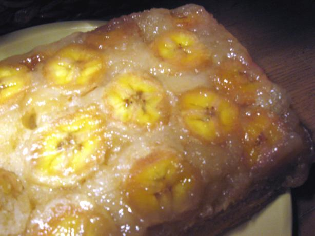 Upside-Down Banana Cake. Photo by mary winecoff