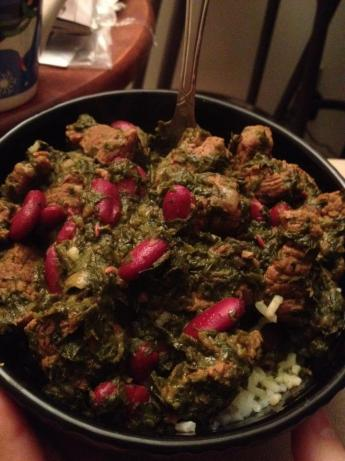 Ghormeh Sabzi - Persian Green Stew. Photo by Jaiyla
