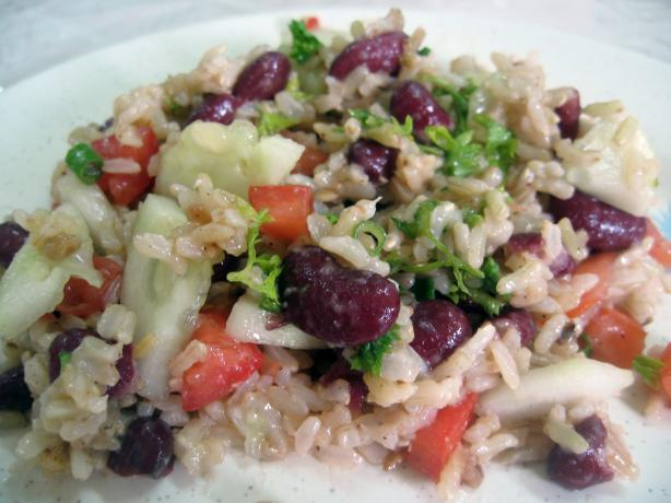 Brown Rice Salad. Photo by Enjolinfam