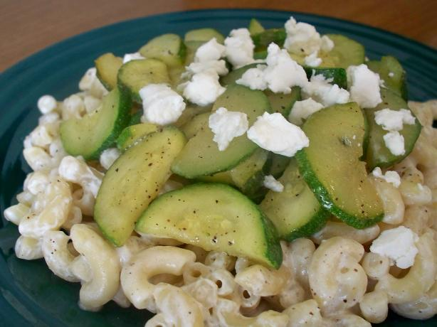 Pasta With Zucchini and Goat Cheese. Photo by *Parsley*