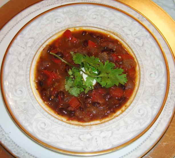 Spiced Black Bean Soup. Photo by mersaydees
