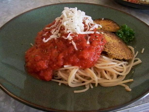 Not My Mom's Eggplant Parmesan (Vegan and Gluten-Free). Photo by Prose