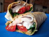 Swiss Turkey Wrap With Fresh Basil