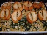 Chicken & Spinach Fettuccine Bake